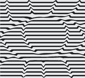 Design monochrome motion illusion twisted twirl background. Abstract lines striped background distortion. Vector-art. Illustration line eyes, stencil, dent the Stock Photography
