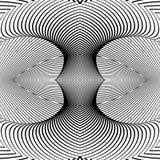 Design monochrome movement illusion background Stock Photography