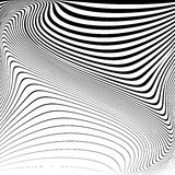 Design monochrome movement illusion background Stock Photography