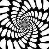 Design monochrome movement illusion background Royalty Free Stock Image