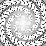 Design monochrome movement illusion background Royalty Free Stock Photography