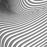 Design monochrome parallel waving lines background Royalty Free Stock Image