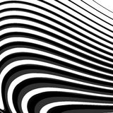Design monochrome parallel waving lines background Stock Image