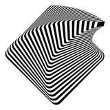 Design monochrome pyramid illusion background Stock Images