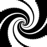 Design monochrome spiral movement illusion background. Abstract design backdrop. Vector-art illustration stock illustration