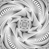 Design monochrome swirl illusion background Royalty Free Stock Images