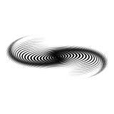 Design monochrome swirl motion background. Abstract lines torsion backdrop. Decor element. Vector-art illustration Royalty Free Stock Photos