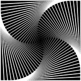 Design monochrome swirl square background Royalty Free Stock Photography