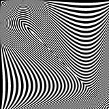 Design monochrome textured illusion background Royalty Free Stock Photography