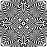 Design monochrome textured illusion background Stock Images