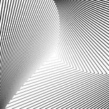 Design monochrome triangle illusion background Stock Image