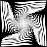 Design monochrome twirl illusion background Stock Image