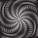 Design monochrome twirl illusion background Royalty Free Stock Photo