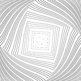 Design monochrome vortex illusion background Stock Photos