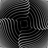 Design monochrome vortex illusion background Stock Images