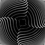 Design monochrome vortex illusion background Stock Images