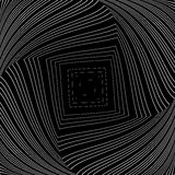 Design monochrome vortex illusion background Stock Image