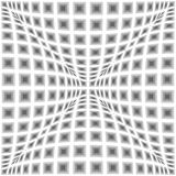 Design monochrome warped checked pattern Stock Images