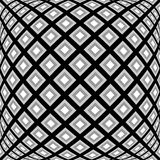 Design monochrome warped diamond pattern Stock Photo