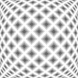 Design monochrome warped diamond pattern Royalty Free Stock Photos