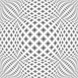 Design monochrome warped diamond pattern Royalty Free Stock Photo