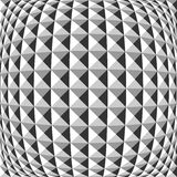 Design monochrome warped geometric pattern Stock Photos