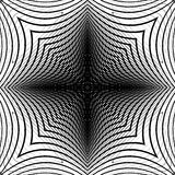 Design monochrome warped grid backdrop Royalty Free Stock Images