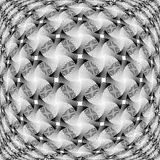Design monochrome warped grid decorative pattern Royalty Free Stock Photo