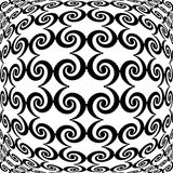 Design monochrome warped grid decorative pattern Stock Images