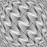 Design monochrome warped grid diamond pattern Royalty Free Stock Photo