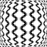 Design monochrome warped grid geometric pattern Stock Photo