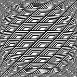 Design monochrome warped grid pattern Royalty Free Stock Images