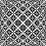 Design monochrome warped grid pattern Stock Image