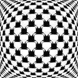 Design monochrome warped grid pattern Royalty Free Stock Photo