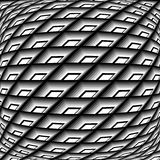 Design monochrome warped grid pattern Royalty Free Stock Photography