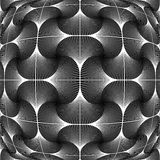 Design monochrome warped grid pattern Stock Image