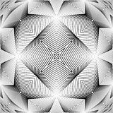 Design monochrome warped grid pattern Royalty Free Stock Image