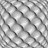 Design monochrome warped grid sphere pattern Royalty Free Stock Photos