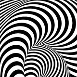 Design monochrome whirl illusion background Royalty Free Stock Photos
