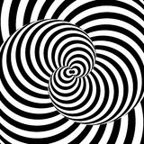 Design monochrome whirl illusion background Royalty Free Stock Images
