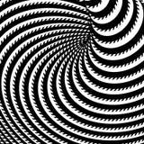Design monochrome whirl illusion background Stock Photos