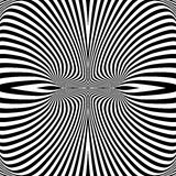 Design monochrome whirl illusion background Stock Image