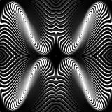 Design monochrome whirl movement background Stock Photography