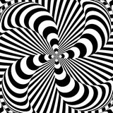 Design monochrome whirlpool illusion background Stock Photo