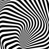 Design monochrome whirlpool illusion background Royalty Free Stock Photo
