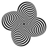 Design monochrome whirlpool illusion background Royalty Free Stock Images