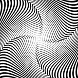 Design monochrome whirlpool illusion background Royalty Free Stock Image