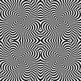 Design monochrome whirlpool motion background. Design monochrome whirlpool motion illusion background. Abstract strip distortion backdrop. Vector-art Royalty Free Stock Photography