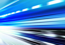 Design of motion velocity. Driving at high speed in empty road - motion blur vector illustration