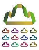 Design mountain logo element Stock Images